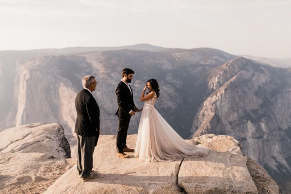 """Vicky and Ben drove all the way across the country to elope in Yosemite National Park -- just the two of them. Their wedding"