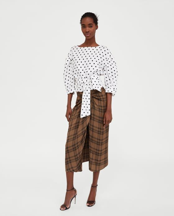 "Zara's $89.90 ""check mini skirt,"" aka lungi look-alike."