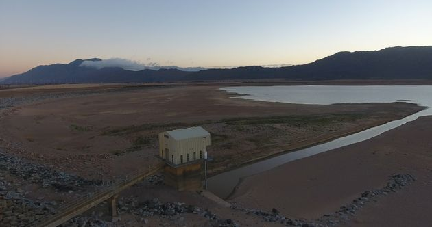 Cape Town's Voëlvlei Dam at only 18.5 percent capacity on Jan. 25,