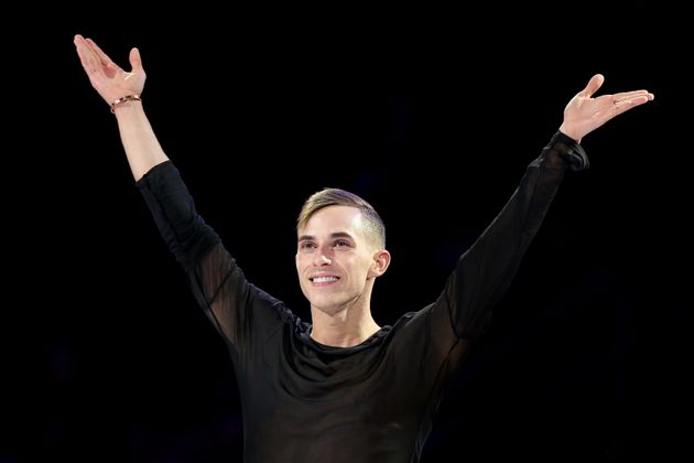 Adam Rippon of the U.S. is the first openly gay man to compete for the U.S. in the Winter