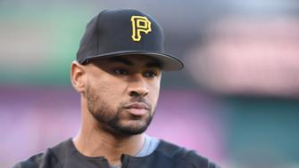 WASHINGTON, DC - SEPTEMBER 28:  Elias Diaz #32 of the Pittsburgh Pirates looks on during batting practice of a baseball game against the Washington Nationals at Nationals Park on September 28, 2017 in Washington, DC.  The Nationals won 5-4.  (Photo by Mitchell Layton/Getty Images)