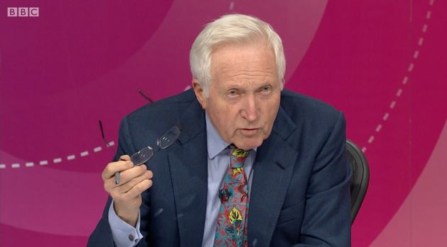 David Dimbleby earned cheers from the audience for his smackdown of Terry