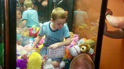 Boy Gets Stuck In Arcade Machine While Trying To Nab A Cuddly