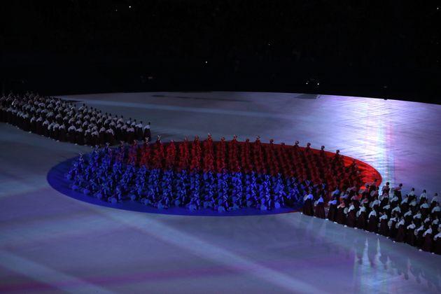 평창동계올림픽 개회식은 웅장하고