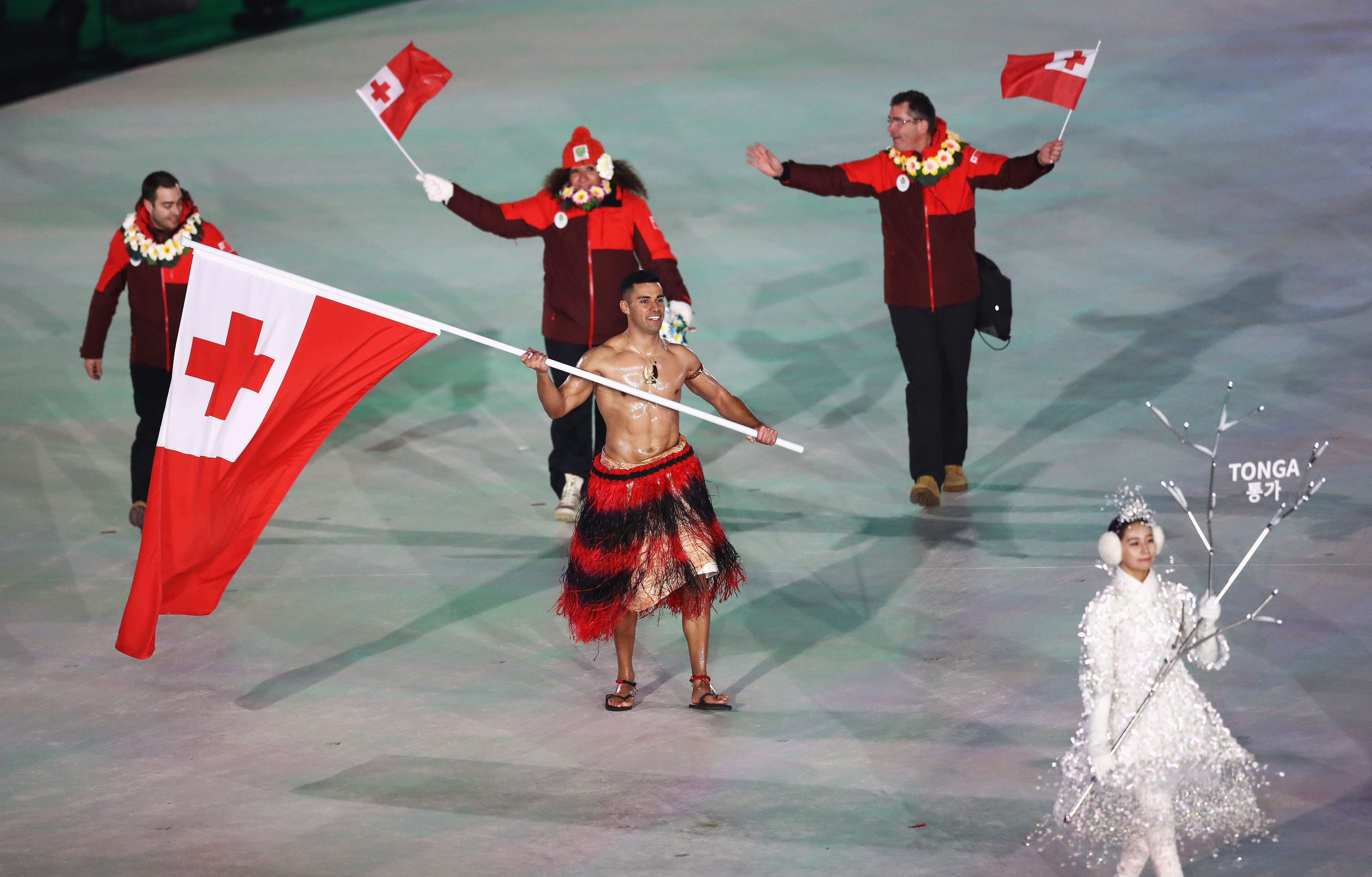 The Shirtless Tongan gives the people what they want at Opening Ceremony