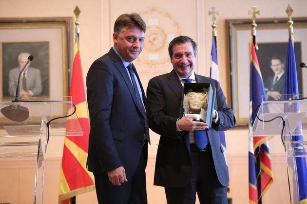 Συνάντηση Καμίνη με τον δήμαρχο Σκοπίων. Συμφώνησαν στενότερη συνεργασία στο άμεσο