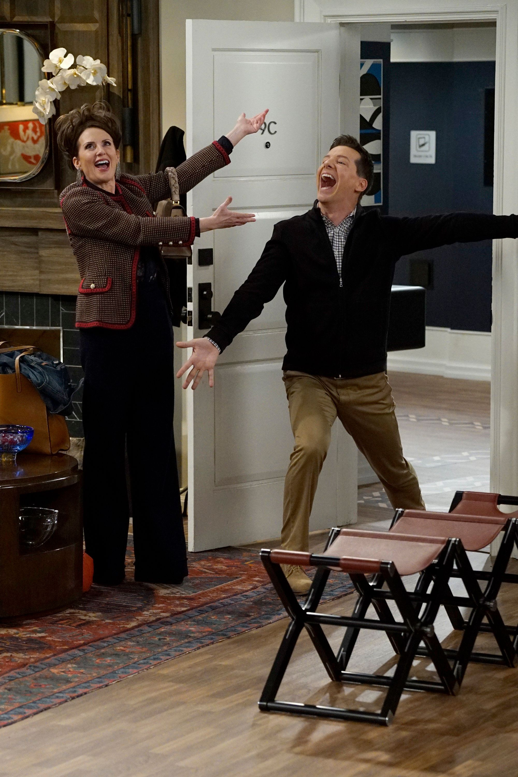 <strong>Megan Mullally and Sean Hayes in the new series of 'Will And Grace'</strong>