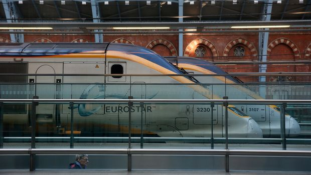 Eurostar trains stand at St Pancras International Station in London, January 17, 2015.  REUTERS/Stefan Wermuth/File Photo