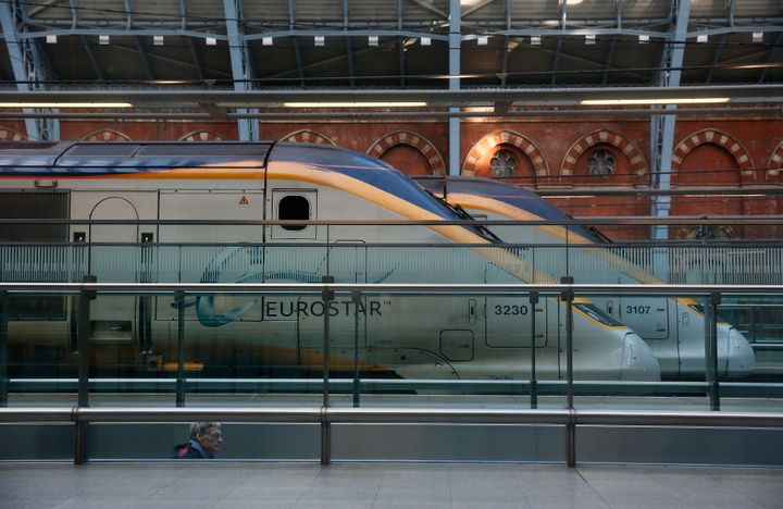 Eurostar trains stand at St Pancras International Station in London on Jan. 17, 2015.