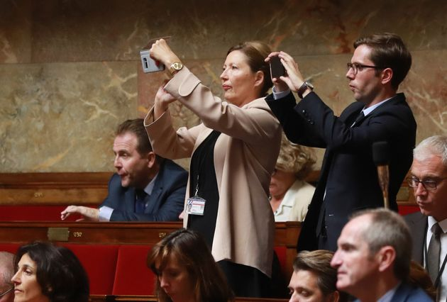 Anglade im französischen Parlament