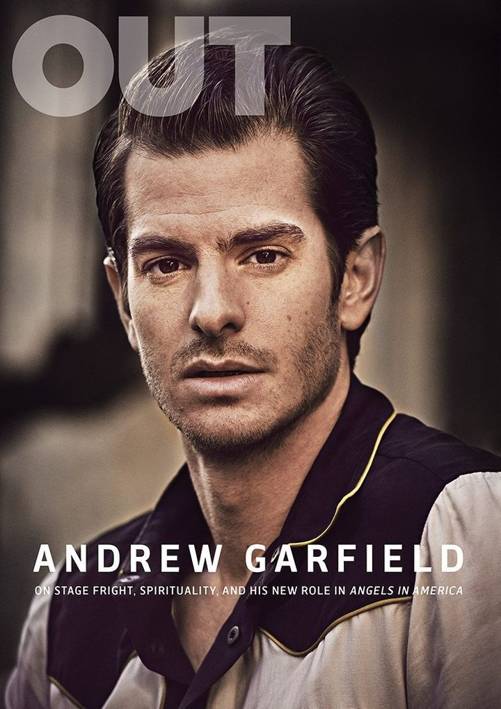 Andrew Garfield covers OUT magazine.