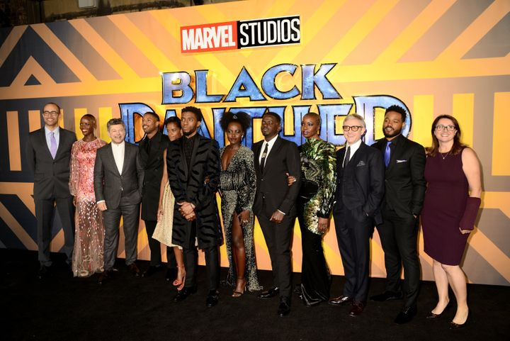 "The cast of the ""Black Panther"" movie."
