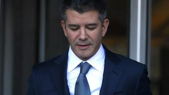 SAN FRANCISCO, CA - FEBRUARY 07:  Former Uber CEO Travis Kalanick leaves the Phillip Burton Federal Building on day three of the trial between Waymo and Uber Technologies  on February 7, 2018 in San Francisco, California. Waymo, an autonomous car subsidiary owned by Google's parent company Alphabet, has accused Uber of theft of trade secrets on its self-driving vehicle development by alleging former Waymo employee Anthony Levandowski illegally downloaded 14,000 confidential documents before leaving to start his own self-driving car company, Otto, which Uber acquired shortly after for a reported $680 million. (Photo by Justin Sullivan/Getty Images)