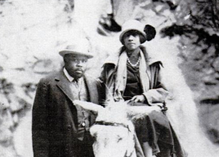 "Amy Jacques Garvey with her husband, Marcus  (via <a rel=""nofollow"" href=""https://commons.wikimedia.org/wiki/File%3AMarcus_Ga"
