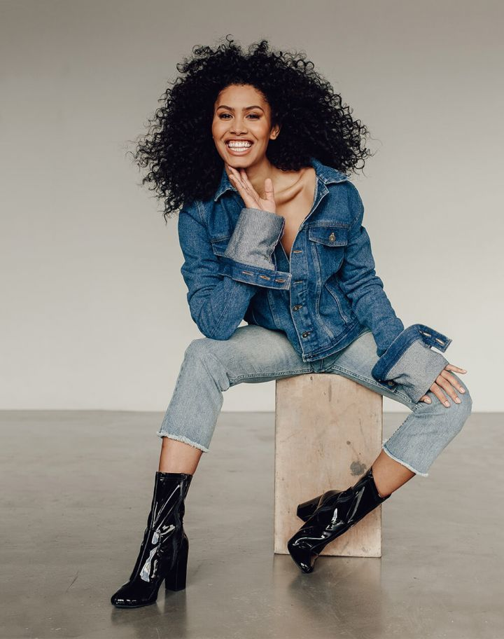 "<em><strong>Y/Project</strong></em> <em>Denim Jacket With Exaggerated Sleeves, $1,485, available at</em> <a rel=""nofollo"