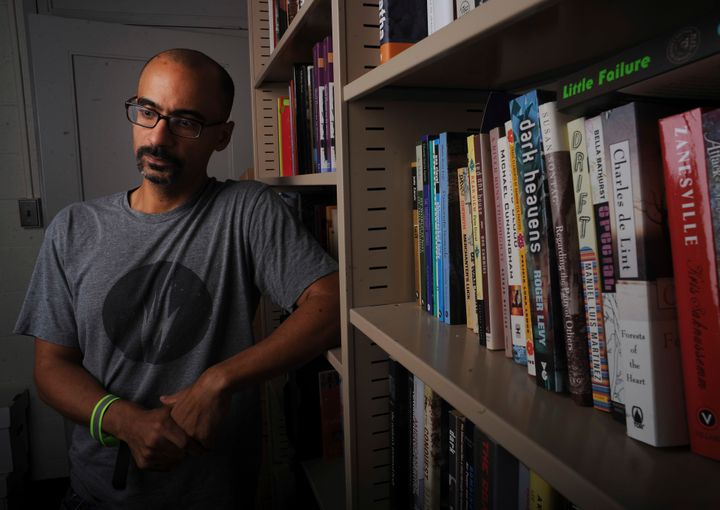 Pulitzer Prize writer Junot Diaz photographed at his MIT office on September 12, 2013.