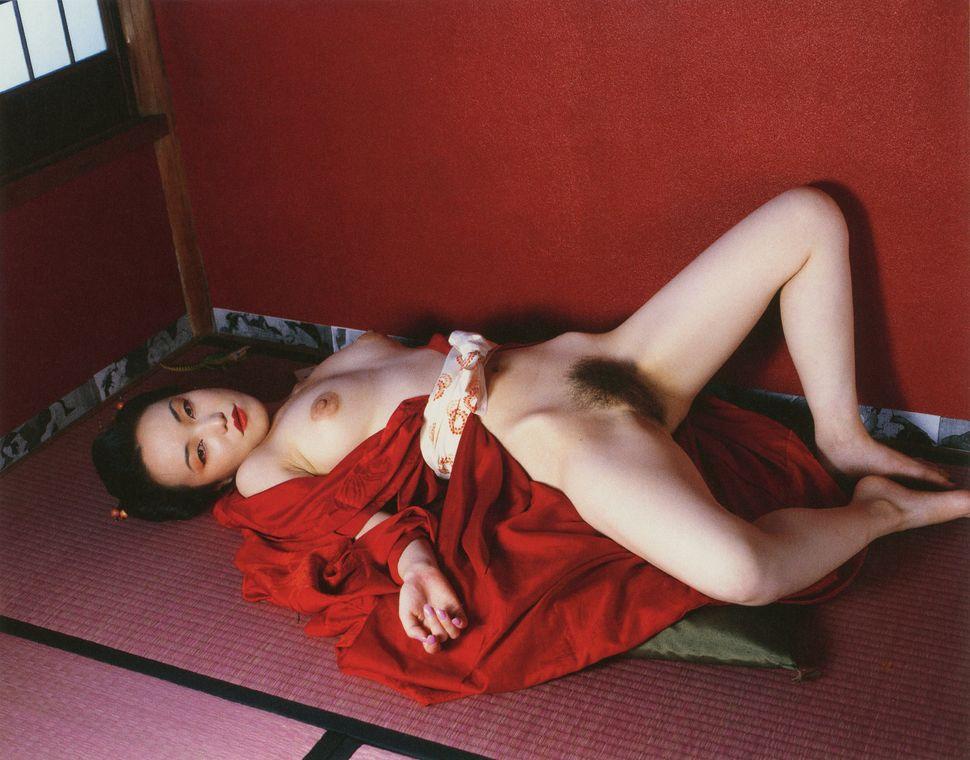 "Nobuyoshi Araki, ""Komari from 'L'Amant d'août' ('Suicide in Tokyo'),"" 2002, C-print."