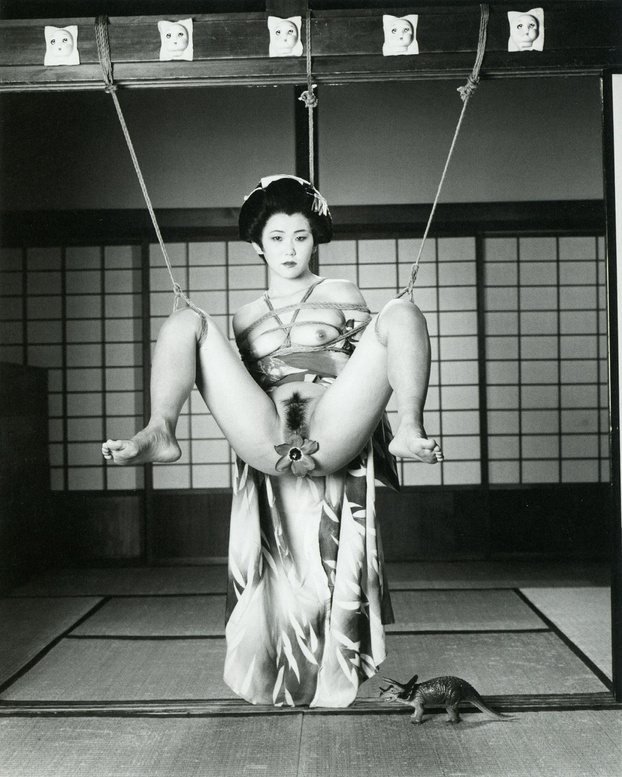 "Nobuyoshi Araki, ""Tokyo Comedy,"" 1997. Black and white photograph."