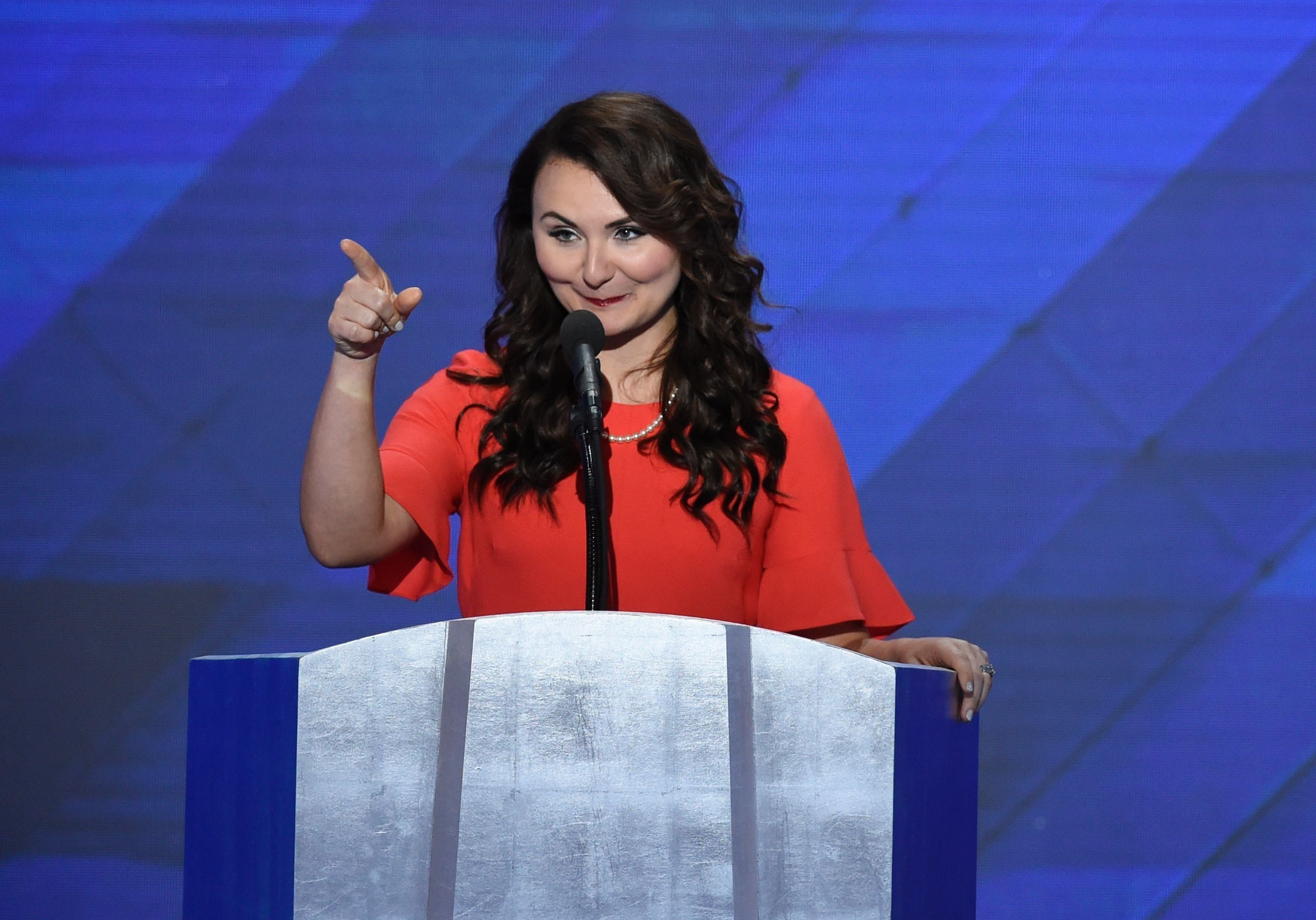 Jennifer Pierotti Lim, co-founder of Republican Women for Progress, speaking at the Democratic National Convention in 20