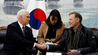 Vice President Mike Pence met with Otto Warmbiers father
