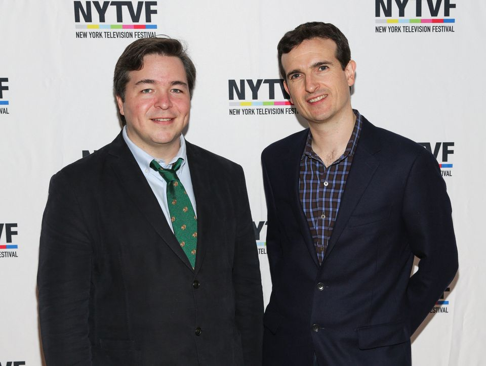 Creators of 'How I Met Your Mother' Carter Bays (L) and Craig Thomas attend the 12th Annual New York...