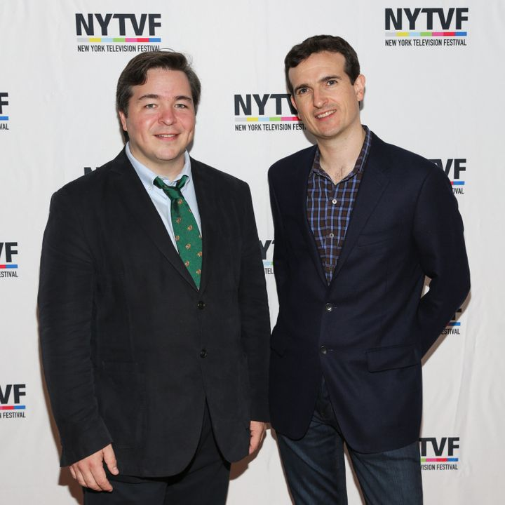 Creators of 'How I Met Your Mother' Carter Bays (L) and Craig Thomas attend the 12th Annual New York Television Festival held at Helen Mills Theater on October 24, 2016 in New York City.