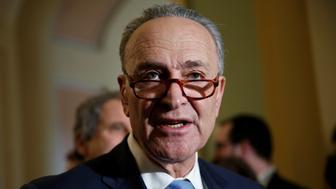 Senate Minority Leader Chuck Schumer (D-NY) speaks to reporters on Capitol Hill in Washington, U.S., January 30, 2018. REUTERS/Joshua Roberts