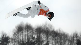 PYEONGCHANG-GUN, SOUTH KOREA - FEBRUARY 09:  Snowboarder Iouri Podladtchikov of Switzerland practices ahead of the PyeongChang 2018 Winter Olympic Games at Phoenix Snow Park on February 9, 2018 in Pyeongchang-gun, South Korea.  (Photo by David Ramos/Getty Images)