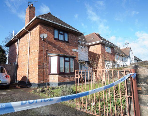 Police tape outsidethe scene in