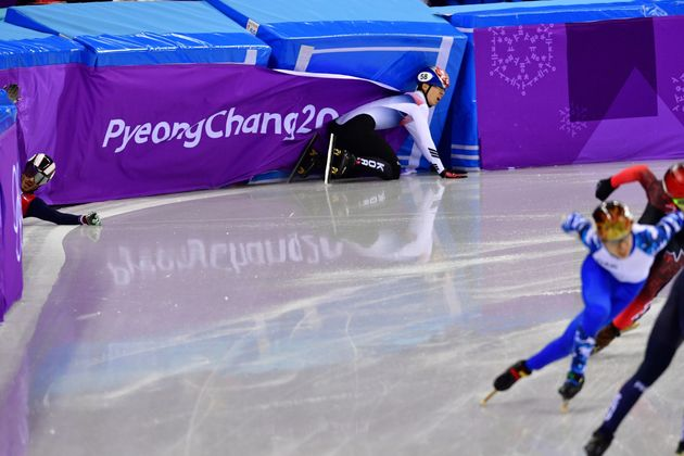 임효준이 쇼트트랙 남자 1500m에서 한국의 첫 금메달을