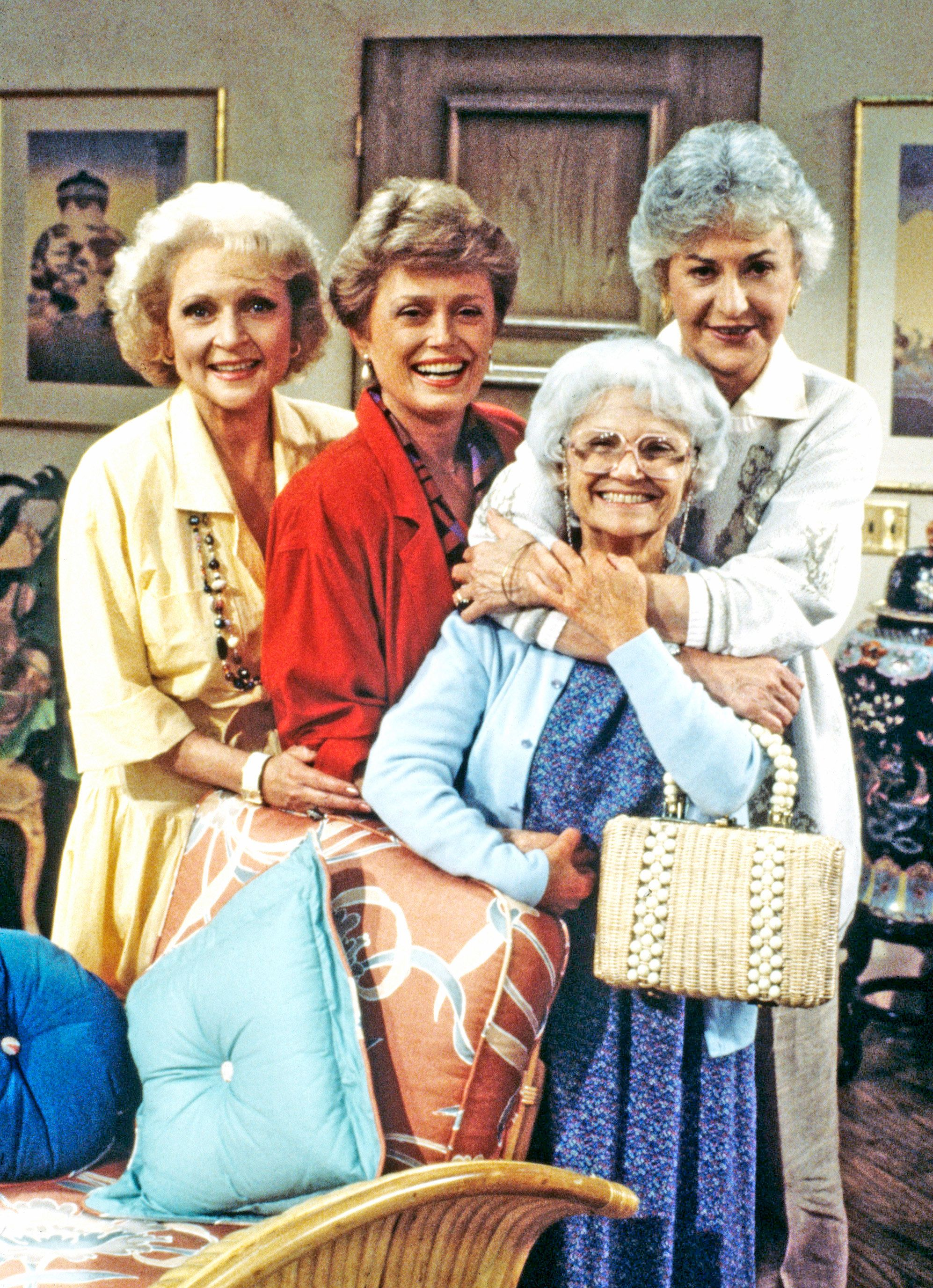 UNITED STATES - APRIL 16:  THE GOLDEN GIRLS - 9/14/85 - 9/14/92, BETTY WHITE (Rose), RUE MCCLANAHAN (Blanche), ESTELLE GETTY (Sophia),, BEA ARTHUR (Dorothy),  (Photo by ABC Photo Archives/ABC via Getty Images)