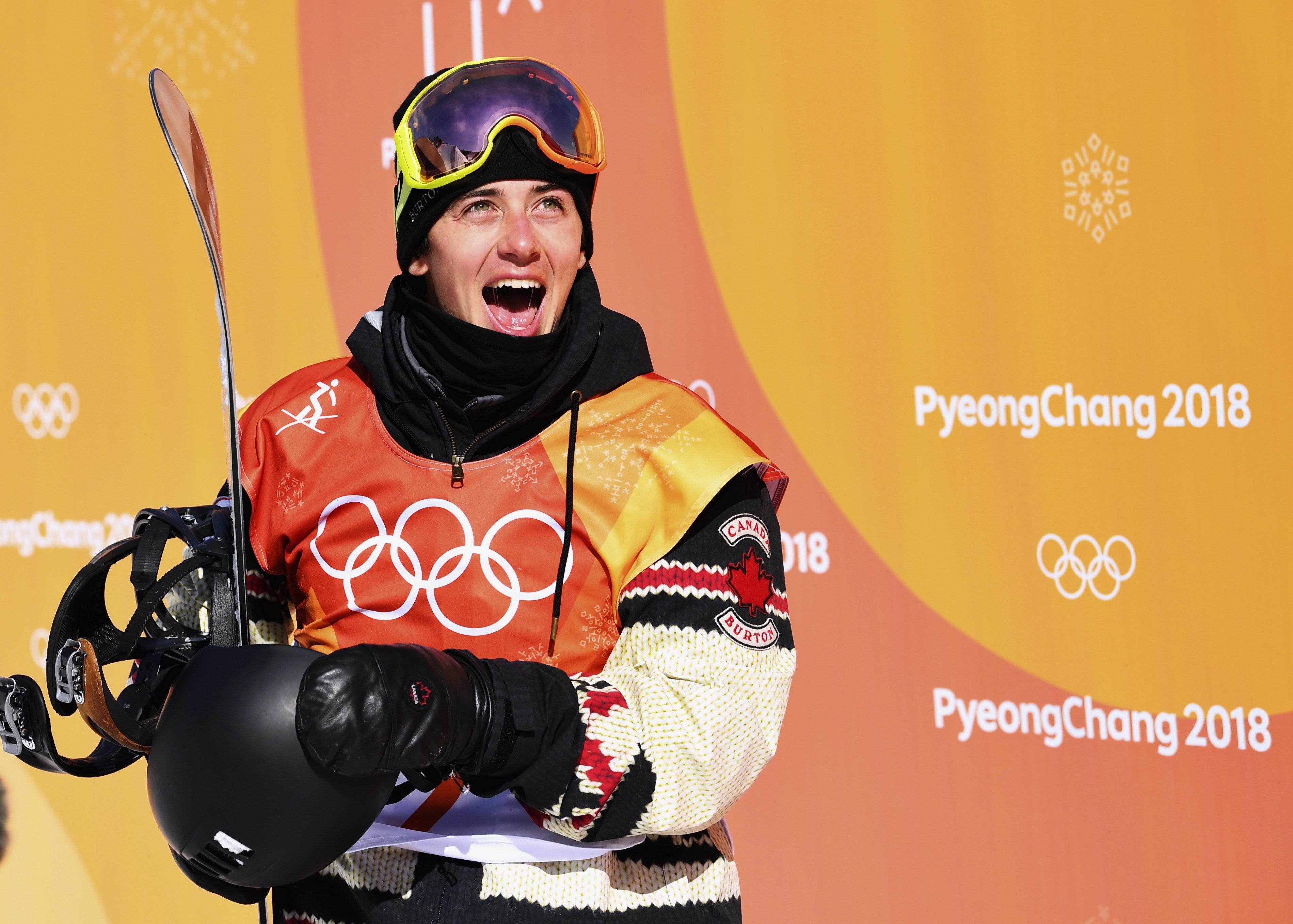 Snowboarding - Pyeongchang 2018 Winter Olympics - Men's Slopestyle Finals - Phoenix Snow Park - Pyeongchang, South Korea - February 11, 2018 -  Mark McMorris of Canada competes. REUTERS/Dylan Martinez