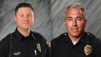 Officer Eric Joering 39 and Officer Anthony Morelli 54 were responding to a domestic disturbance call when they were fatally shot