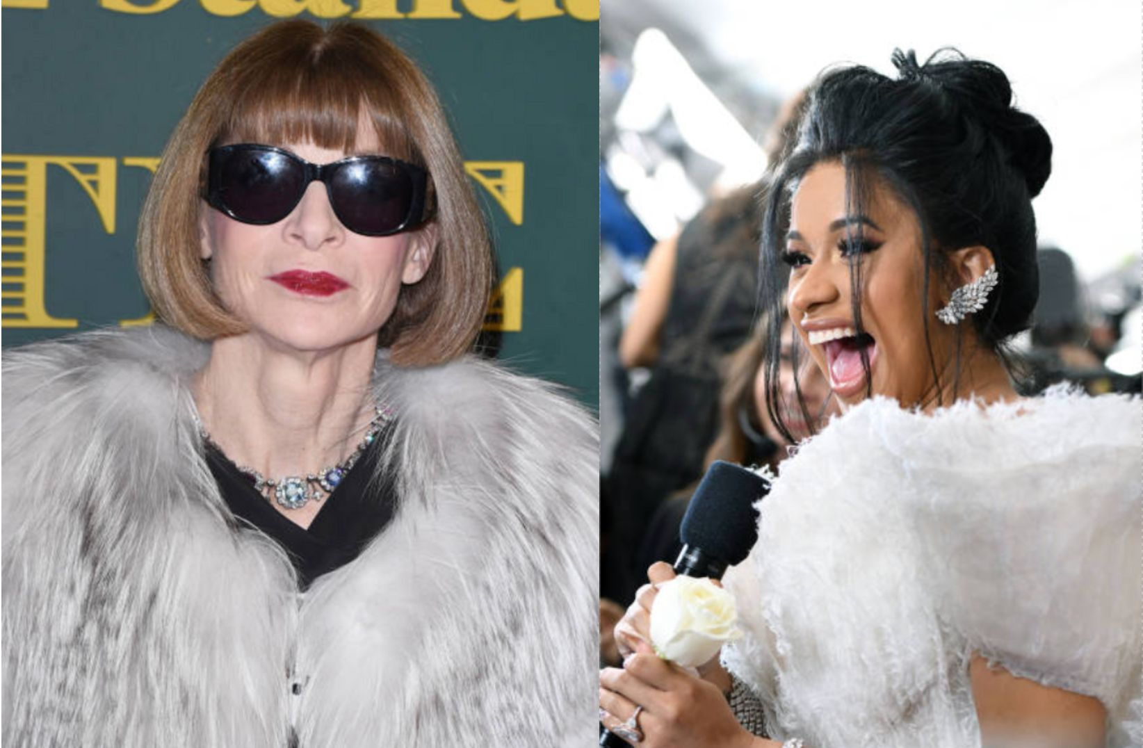 Cardi B May Be One Of The Few People Who Can Actually Make Anna Wintour Smile