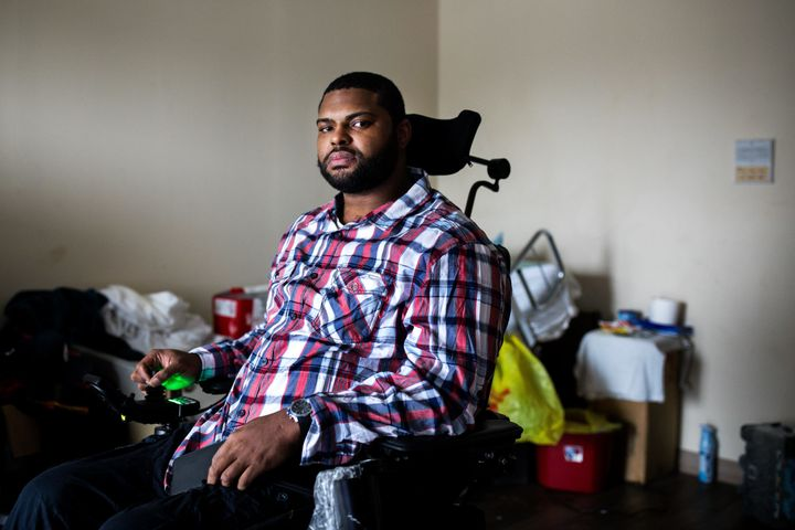A shooting in 2015 left Ernest Edmonds, Jr., paralyzed and isolated. He misses attending family gatherings and picking his so