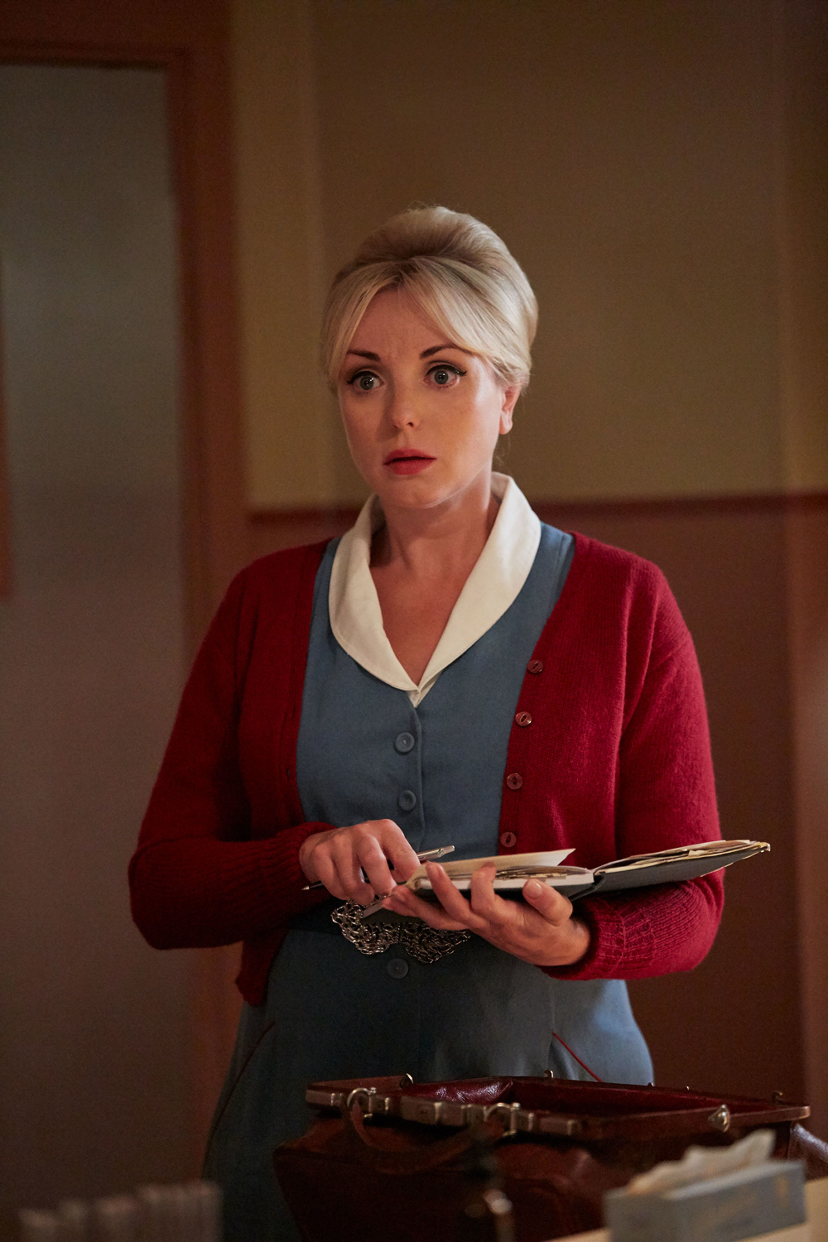 Trixie's absence was written in when Helen George went on maternity