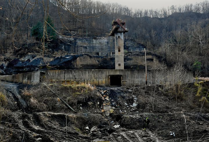 A former coal mine near Hazard in Perry County, Kentucky. As coal has waned, the Appalachian community faces increasingl
