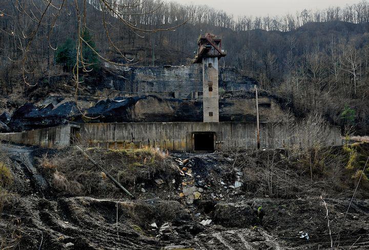 A former coal mine near Hazard in Perry County, Kentucky. As coal has waned,the Appalachian community faces increasingl