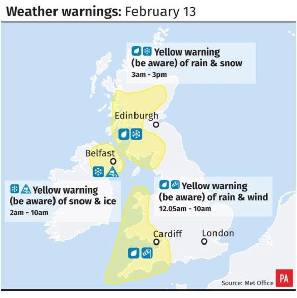 UK Weather Forecast: Britain Blasted By Ice, Snow And