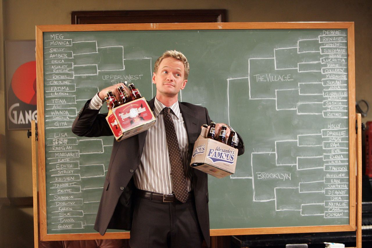 """Neil Patrick Harris playing Barney Stinson on a 2008 episode of """"How I Met Your Mother."""""""