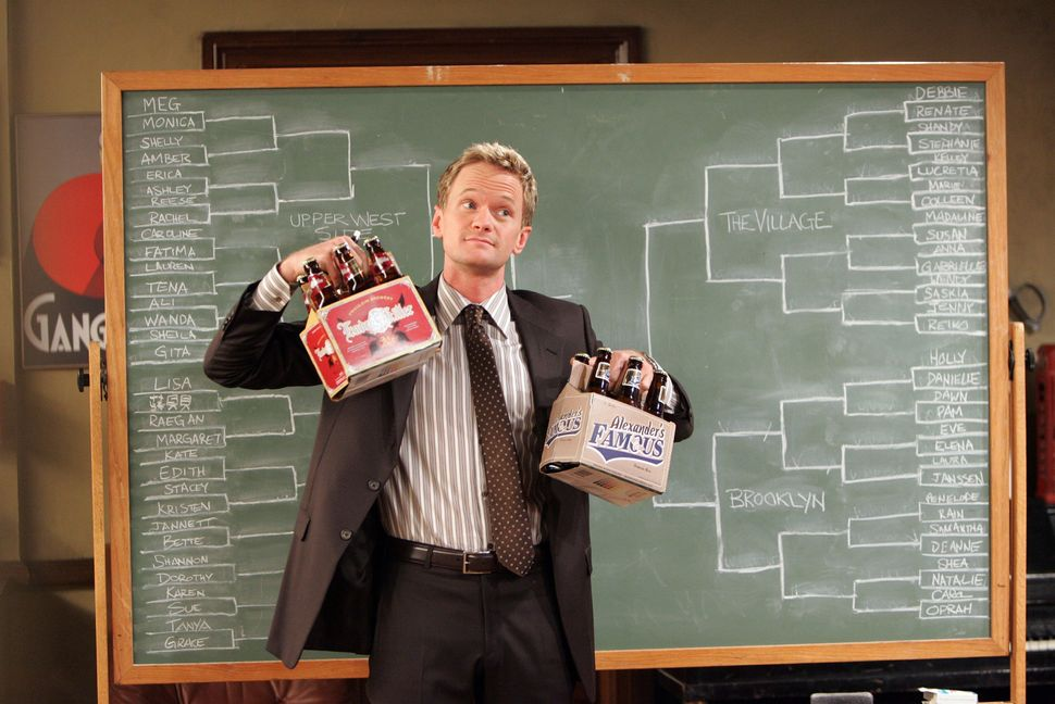 "Neil Patrick Harris playing Barney Stinson on a 2008 episode of ""How I Met Your Mother."""