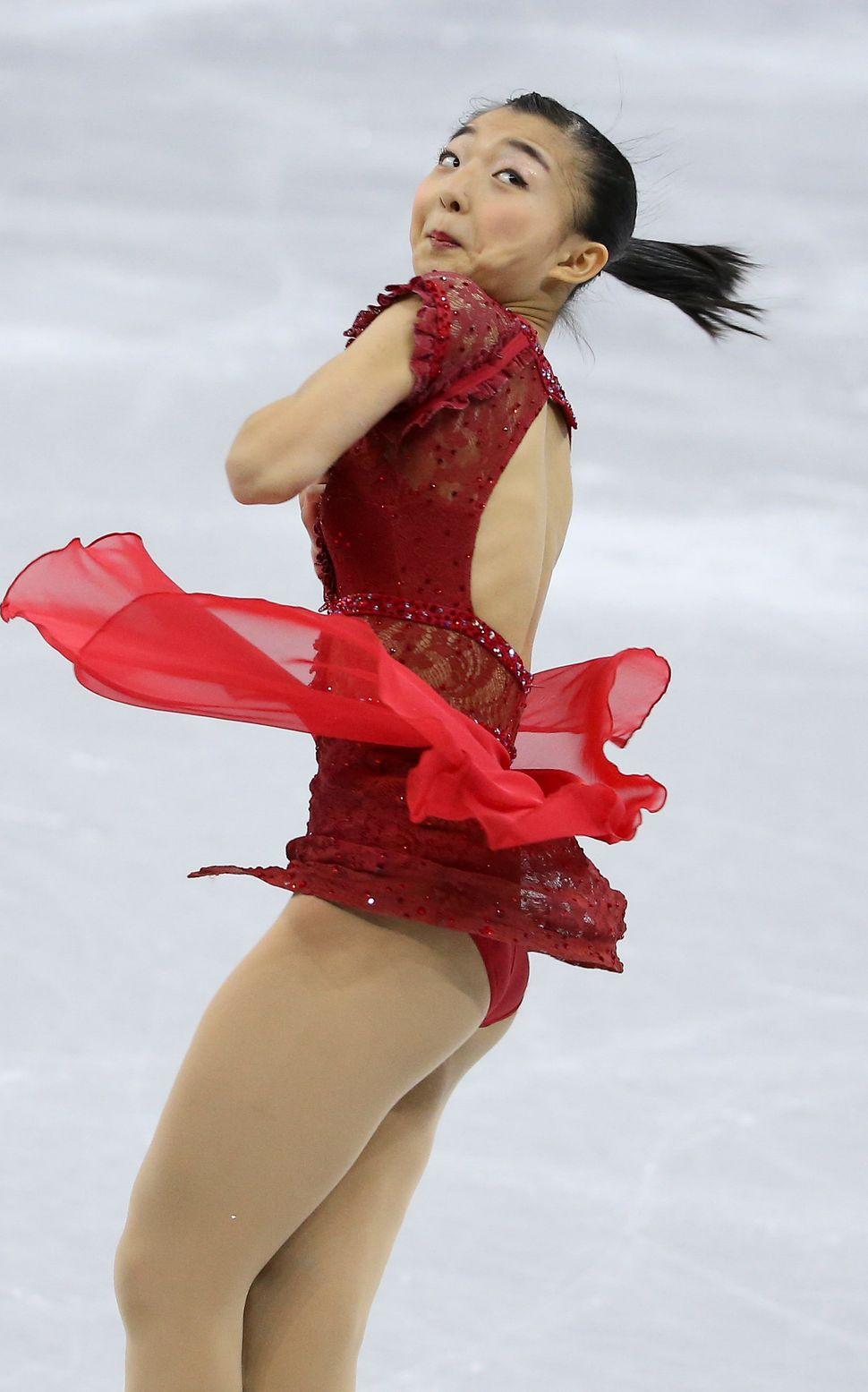 Kaori Sakamoto of Japan.