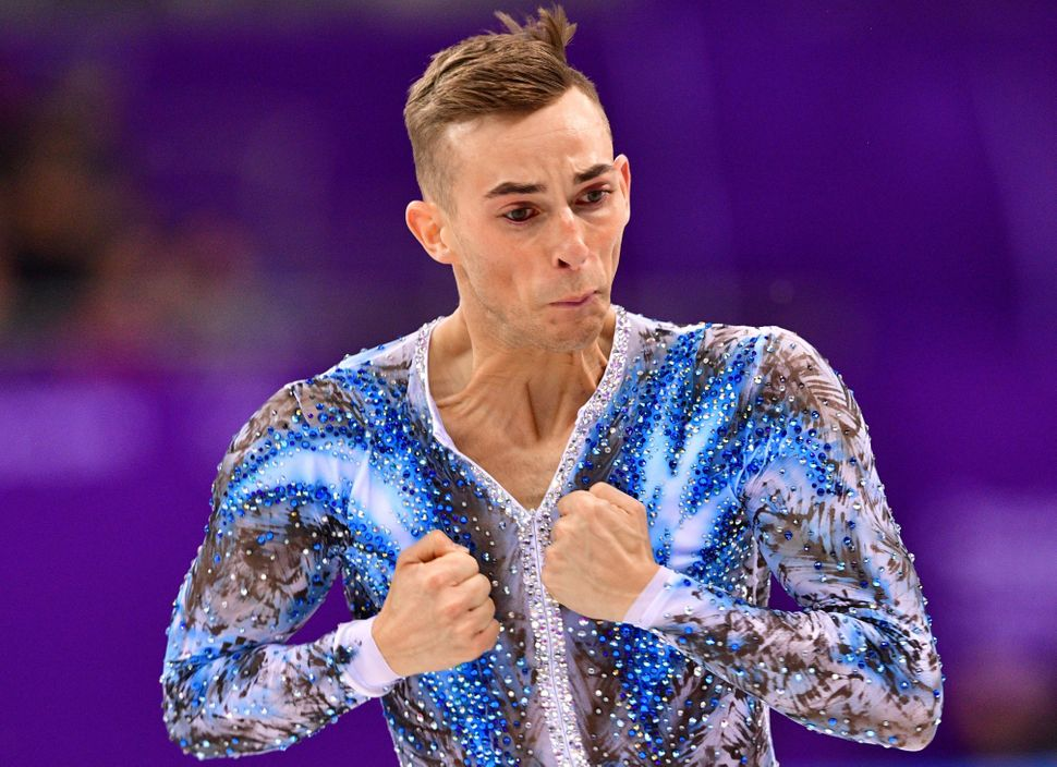 Adam Rippon of the U.S.