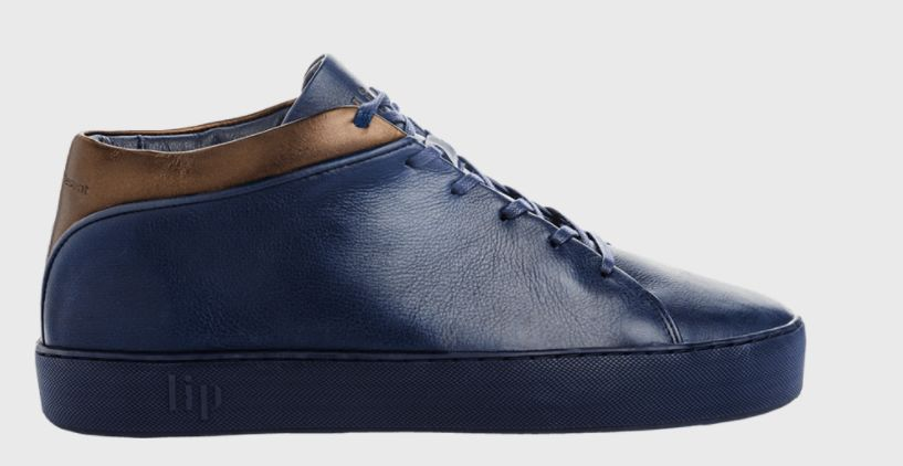 LIP's 'Dust' trainers in blue would go well with a dark tailored