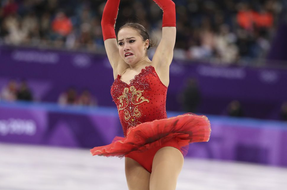 Alina Zagitova, an Olympic athlete from Russia.