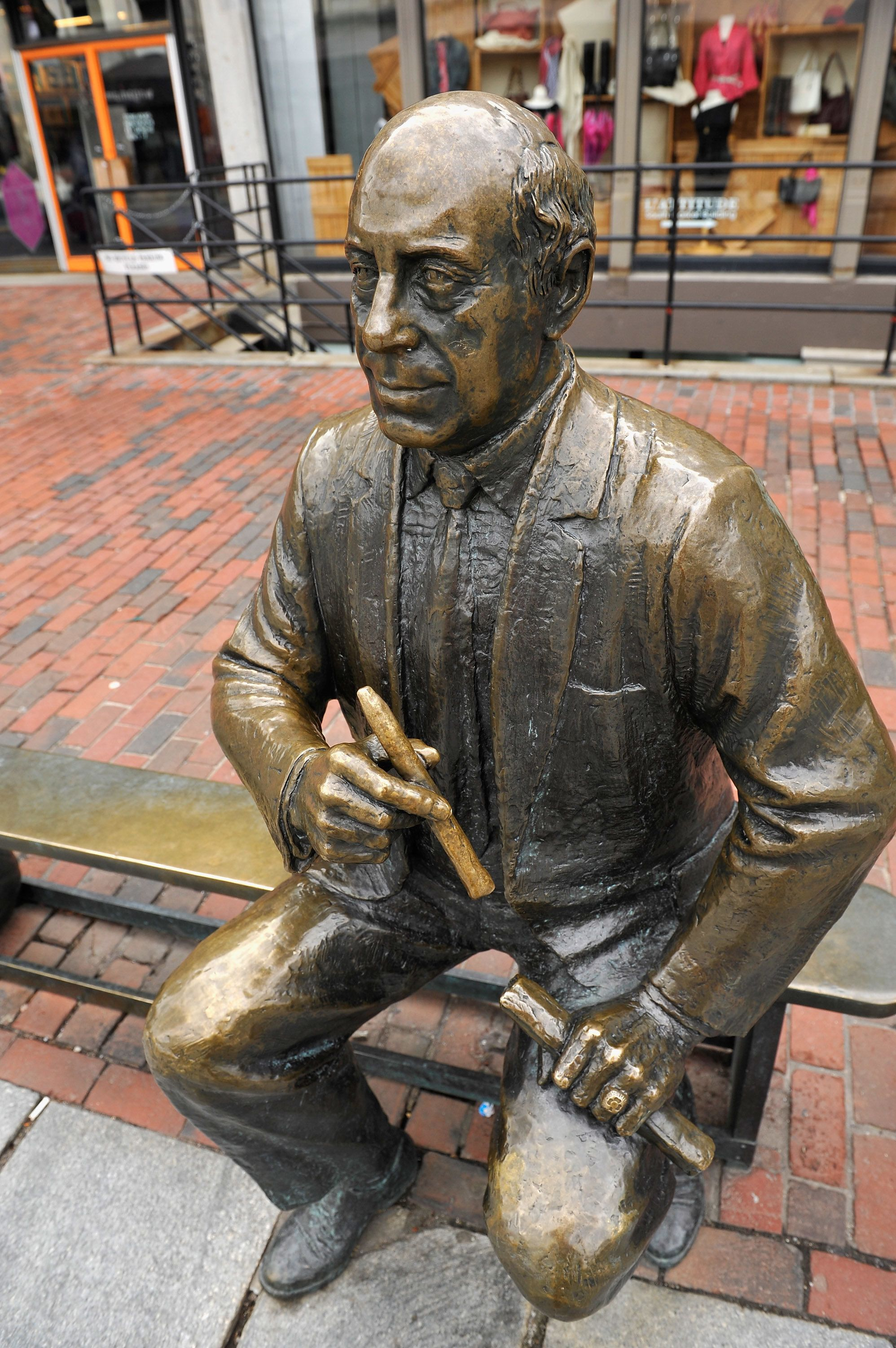 The Boston PD's Tweet honored former Boston Celtics coach and president Red Auerbach, whose statue is seen in the city's