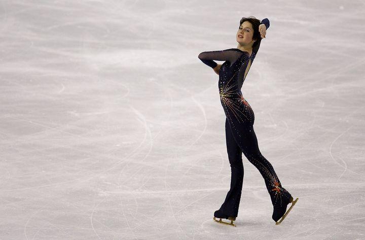 Irina Slutskaya during the 2006 Winter Olympic Games in Turin, Italy.