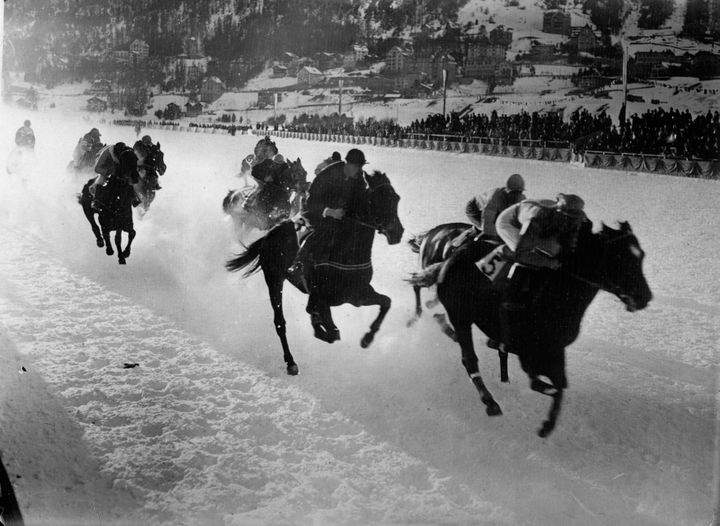 The Winter Olympic pentathlon included horseback riding.