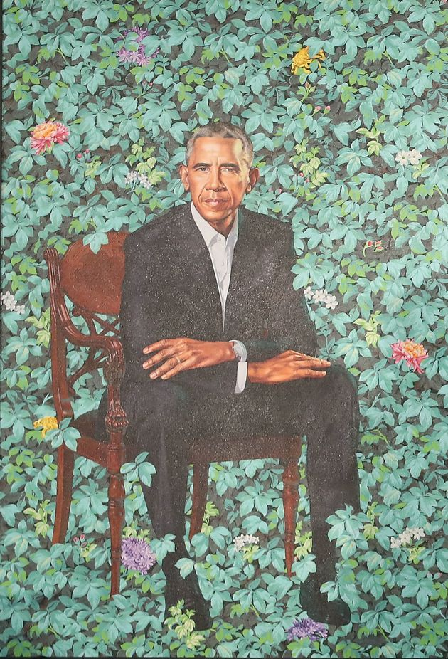 Barack Obama's portrait by Kehinde Wiley in further