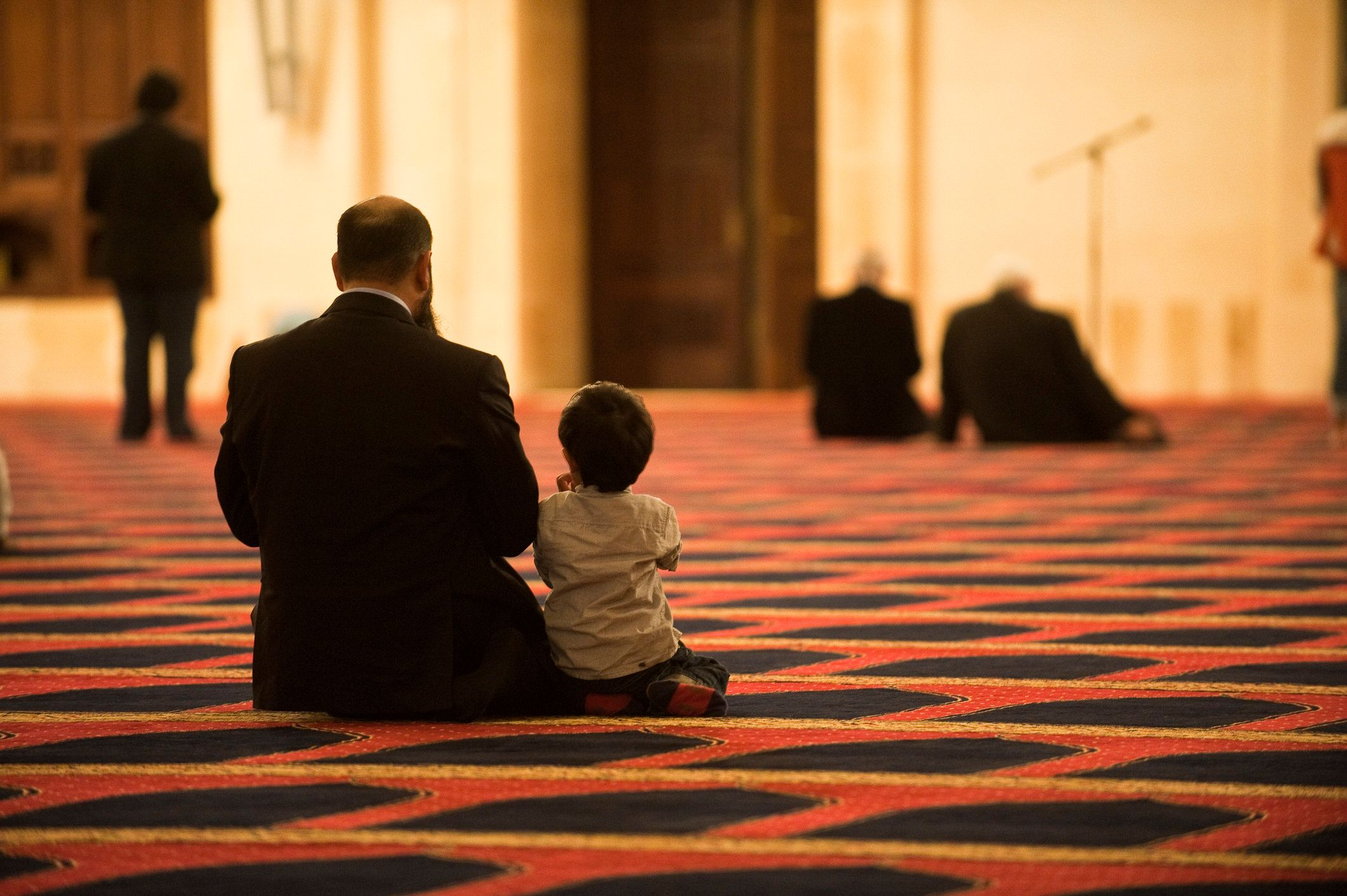 Lebanon, Beirut, Al Omari, prayer of a father and son